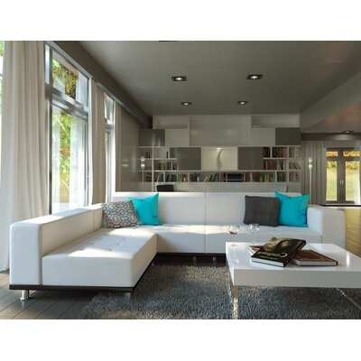 Dumas Reversible Sectional Upholstery: White