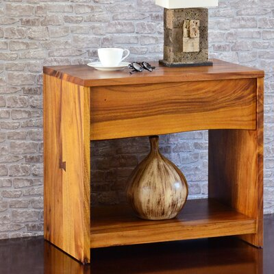 Cayu Live Edge 1 Drawer Nightstand
