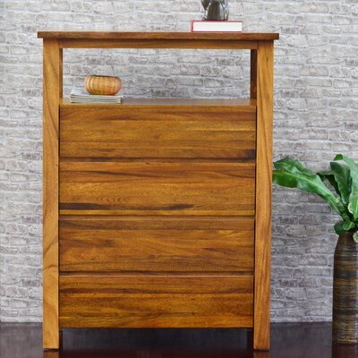 Cayu Live Edge 4 Drawer Media Chest