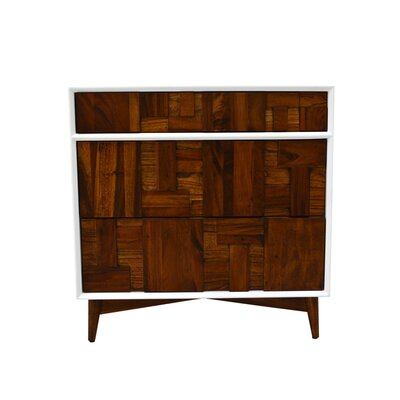 Melange 3 Drawer Chest