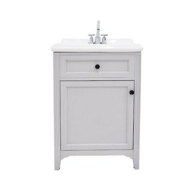 Gerson 24 Single Bathroom Vanity Set Base Finish: Gray