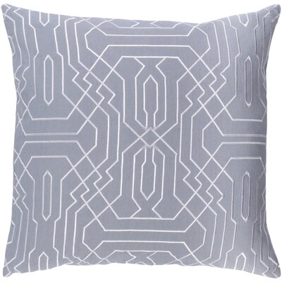 Ridgewood Throw Pillow Size: 22 H x 22 W x 4 D, Color: Medium Gray/White
