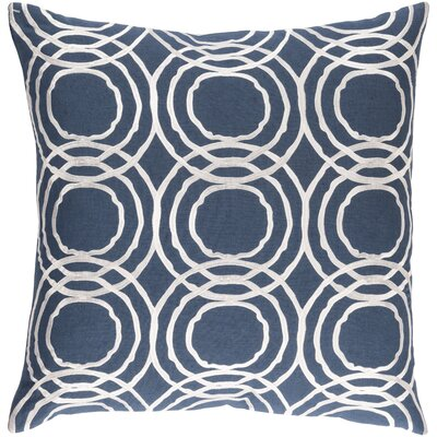 Ridgewood Throw Pillow Size: 20 H x 20 W x 4 D, Color: Navy/White, Fill Material: Polyester