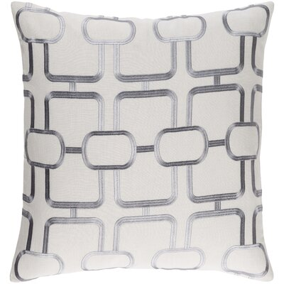 Lockhart Throw Pillow Size: 22 H x 22 W x 4 D, Color: Light Gray/Denim