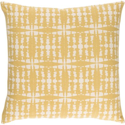 Ridgewood Cotton Throw Pillow Size: 22 H x 22 W x 4 D, Color: Yellow/Cream