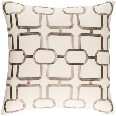 Lockhart Throw Pillow Size: 20 H x 20 W x 4 D, Color: Khaki/Taupe