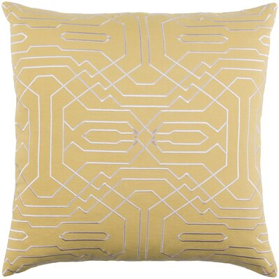 Ridgewood Throw Pillow Size: 20 H x 20 W x 4 D, Color: Mustard/Cream