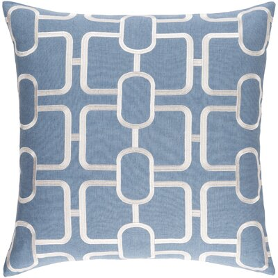 Lockhart Throw Pillow Size: 22 H x 22 W x 4 D, Color: Denim/White