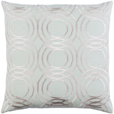 Ridgewood Throw Pillow Size: 22 H x 22 W x 4 D, Color: Mint/Cream