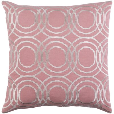 Ridgewood Throw Pillow Size: 22 H x 22 W x 4 D, Color: Pale Pink/Cream