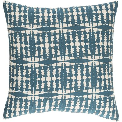Ridgewood Cotton Throw Pillow Size: 20 H x 20 W x 4 D, Color: Teal/Cream