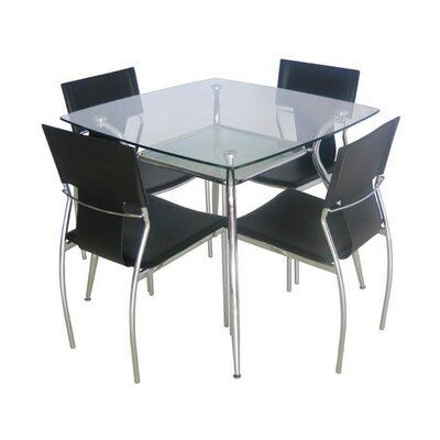 Sasso Tempered Glass Dining Table