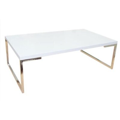 Damaris Coffee Table Top Color: White