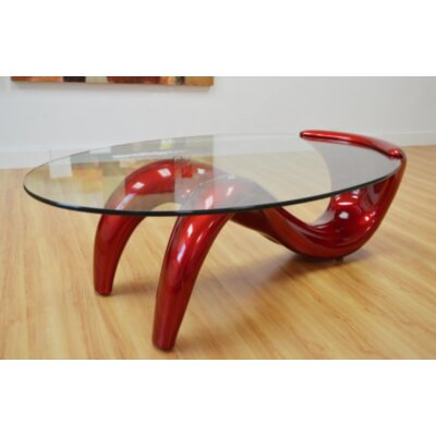 Coffee Table Base Finish: Red