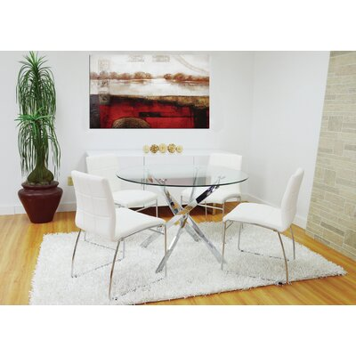 Saulter Tempered Glass Dining Table