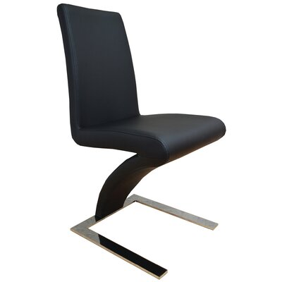 Sato Upholesterd Dining Chair Upholstery Color: Black
