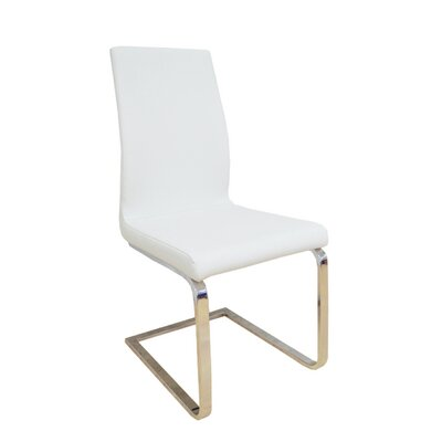 Allusione Side Chair Upholstery Color: White