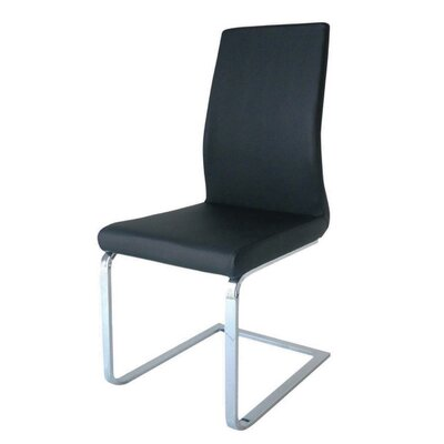 Allusione Side Chair Upholstery Color: Black