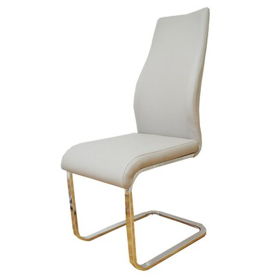 Satterfield Rectangle Tube Base Upholstered Dining Chair Upholstery Color: Tan