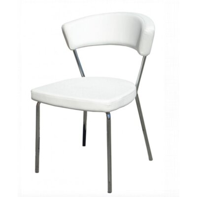 Azurro Side Chair Upholstery Color: White