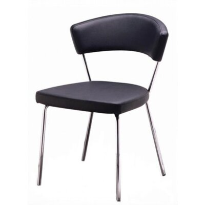 Azurro Side Chair Upholstery Color: Black