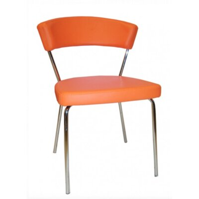 Azurro Side Chair Upholstery Color: Orange