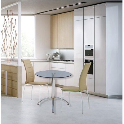Sauceda Tempered Glass Dining Table
