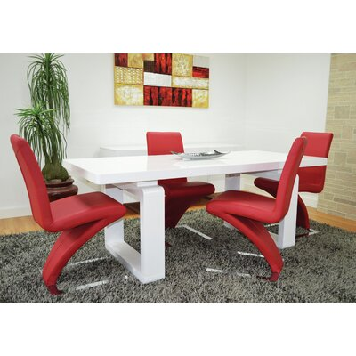 Sato Upholesterd Dining Chair Upholstery Color: Red