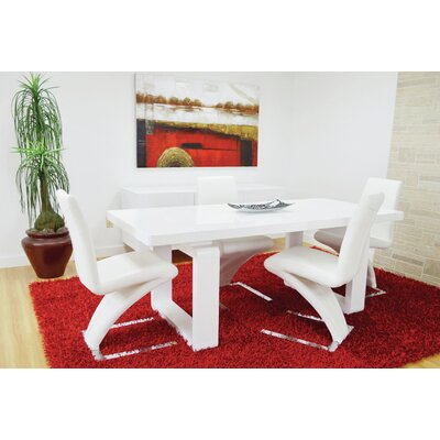 Sato Upholesterd Dining Chair Upholstery Color: White
