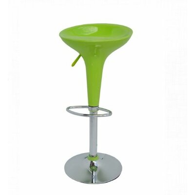 Adjustable Height Bar Stool Finish: Green