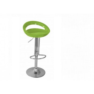 Adjustable Height Swivel Bar Stool Finish: Green