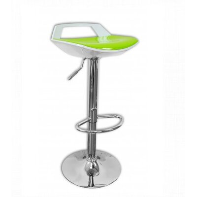 Adjustable Height Bar Stool Finish: White/Green