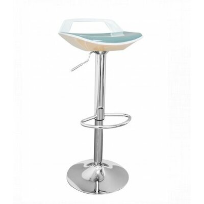 Adjustable Height Bar Stool Finish: White/Grey
