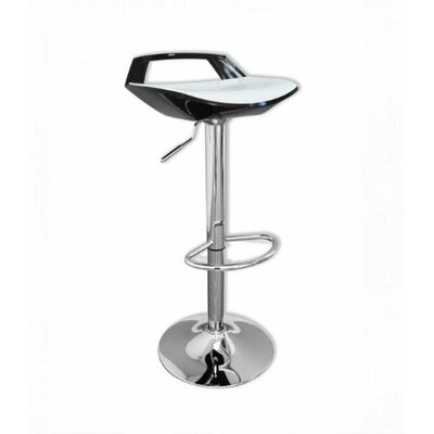 Adjustable Height Bar Stool Finish: Black/White