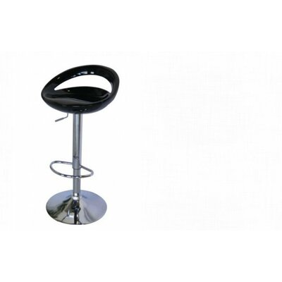 Adjustable Height Bar Stool Finish: Black