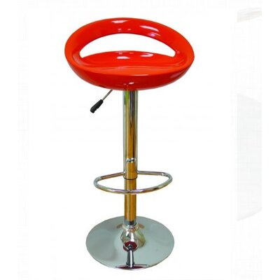 Adjustable Height Bar Stool Finish: Red