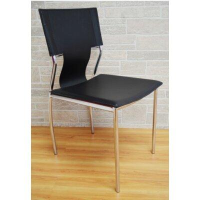 Kubu Side Chair Upholstery: Black
