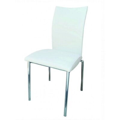 Vogue Side Chair Upholstery: White