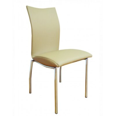 Vogue Side Chair Upholstery: Almond