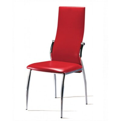 Carey Side Chair Upholstery: Red