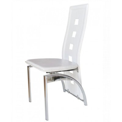 Mestler Side Chair Upholstery: White