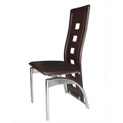 Mestler Side Chair Upholstery: Dark Brown