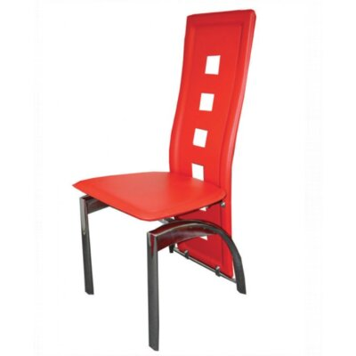 Mestler Side Chair Upholstery: Red