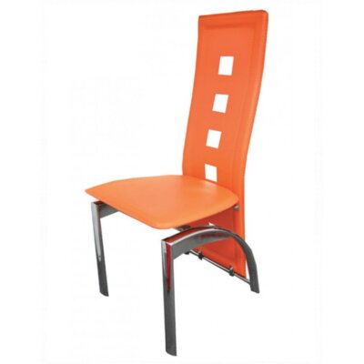 Mestler Side Chair Upholstery: Orange