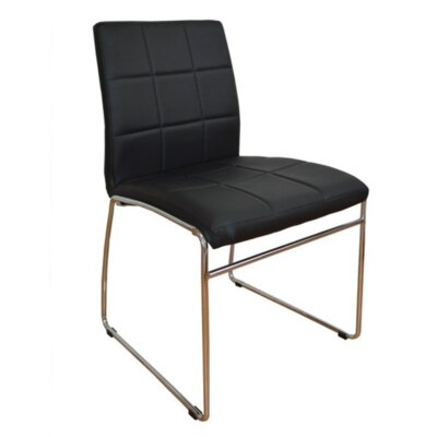 Ruzzi Side Chair Upholstery: Black