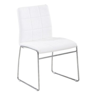 Ruzzi Side Chair Upholstery: White