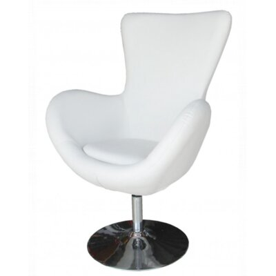 Keno Swivel Lounge Chair Upholstery: White