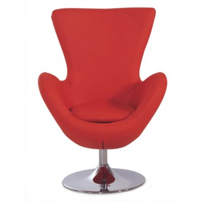 Keno Swivel Lounge Chair Color: Red