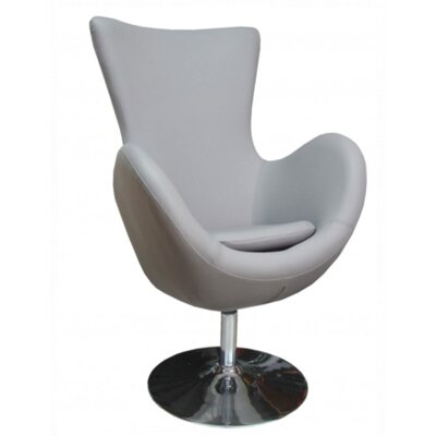 Keno Swivel Lounge Chair Upholstery: Gray