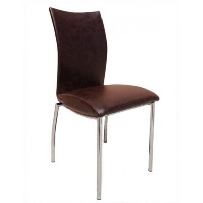 Vogue Side Chair Upholstery: Dark Brown